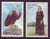 IC0378-791 Iceland Scott # 378-79 MNH, Sea Eagle and National Costume 1965-66