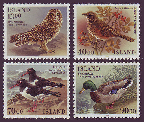 IC0642-451 Iceland Scott # 642-45 MNH, Birds 1987