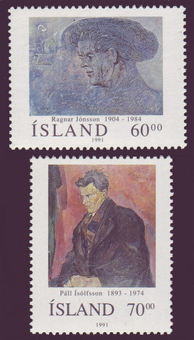 IC0743-44 Iceland Scott # 743-44 MNH, Art 1991
