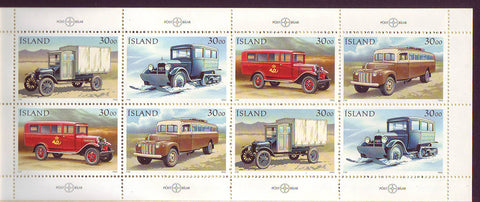 IC0759b Iceland Scott # 759b MNH, Postal Vehicles 1992