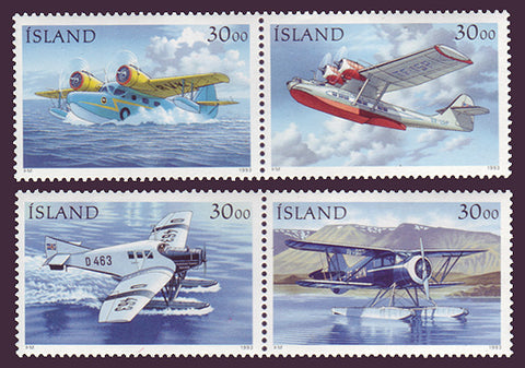 IC0773-761 Iceland Scott # 773-76 MNH, Seaplanes 1993