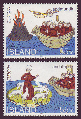 IC0780-811 Iceland Scott # 780-81 MNH