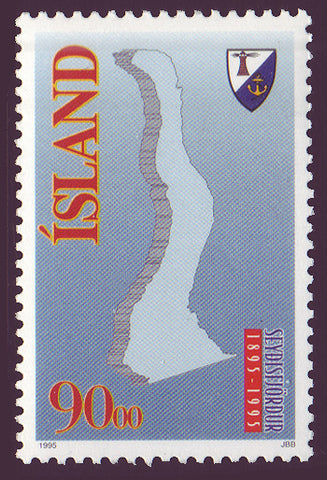 IC07941 Iceland Scott # 794 MNH, Town of Seydisfjordur 1995