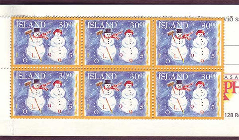 IC0811a Iceland Scott # 811a MNH, Christmas 1995
