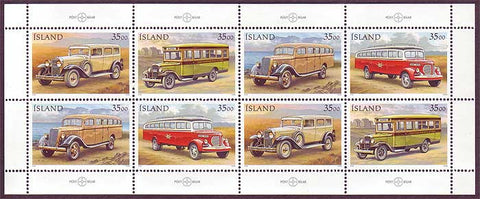 IC0823b Iceland Scott # 823b MNH, Postal Vehicles 1992