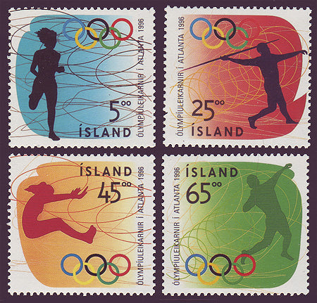 IC0824-271 Iceland Scott # 824-27 MNH, Olympic Games, Atlanta 1996