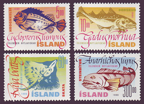 IC0856-591 Iceland Scott # 856-59 MNH, Fish 1998