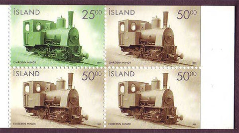 IC0878a Iceland Scott # 878a MNH, Locomotives 1999