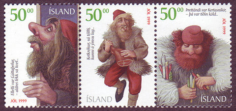 IC08971 Iceland Scott # 897 MNH, Christmas Elves 1999