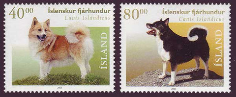 IC0933-341 Iceland       Scott # 933-34 MNH,         Sheepdogs 2000