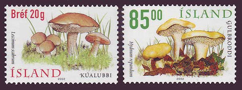 IC0957-581 Iceland       Scott # 957-58 MNH, Mushrooms 2002