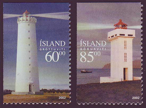 IC0961-621 Iceland       Scott # 961-62 MNH, Lighthouses 2002