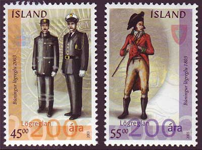 IC0984-851 Iceland       Scott # 984-85 MNH,     Police Force 2003