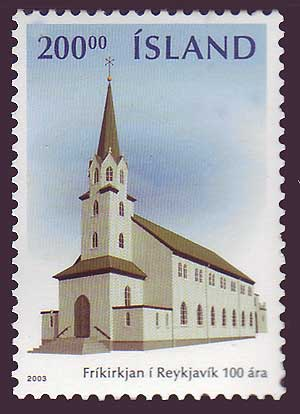 IC09891 Iceland       Scott # 989 MNH,        Free Church 2003