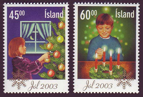 IC1003-041 Iceland       Scott # 1003-04 MNH,        Christmas 2003