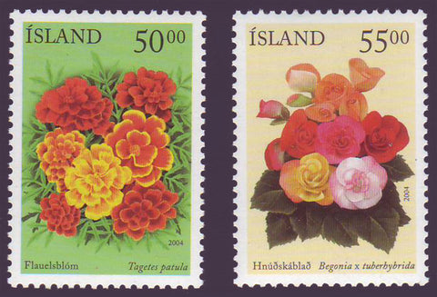 IC1005-061 Iceland       Scott # 1005-06 MNH,        Summer Flowers 2004