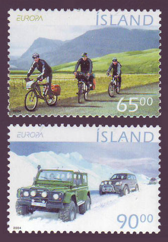 IC1019-201 Iceland       Scott # 1019-20 MNH, Tourism - Europa 2004