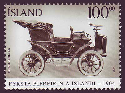 IC10241 Iceland       Scott # 1024 MNH, First Car in Iceland 2004