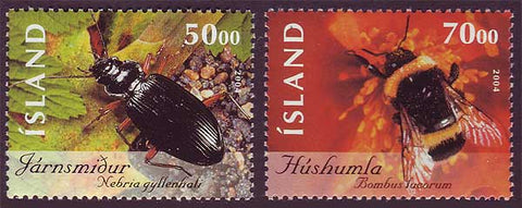 IC1027-281 Iceland       Scott # 1027-28 MNH,         Insects 2004