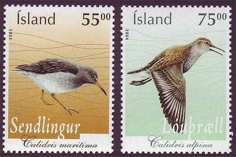 IC1029-301 Iceland       Scott # 1029-30 MNH,    Birds 2004