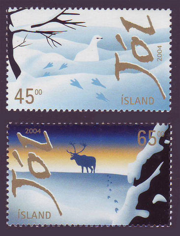 IC1031-321 Iceland       Scott # 1031-32 MNH,    Christmas 2004