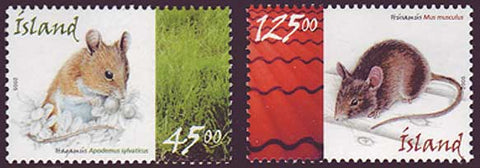 IC1037-381 Iceland       Scott # 1037-38 MNH,        Mice 2005