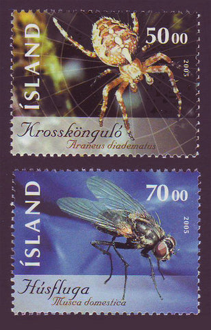 IC1043-441 Iceland       Scott # 1043-44 MNH, Insects 2005