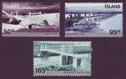 IC1047-491 Iceland       Scott # 1047-49 MNH, Bridges 2005