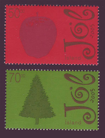 IC1061-621 Iceland       Scott # 1061-62 MNH, Christmas 2005