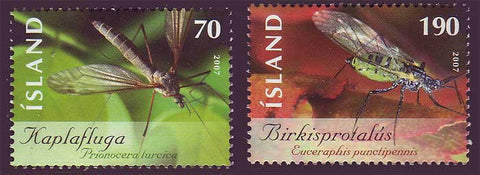 IC1121-221 Iceland       Scott # 1121-22 MNH, Insects 2007