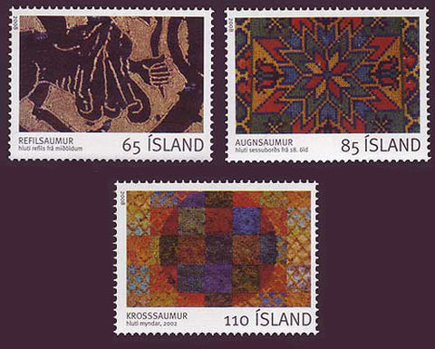 IC1134-361 Iceland       Scott # 1134-36 MNH, Embroidery 2008