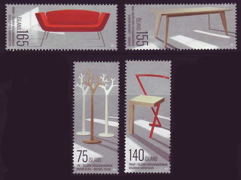 IC1185-861 Iceland Scott # 1185-86 MNH, Furniture Design 2010