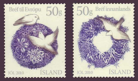 IC1218-191 Iceland Scott # 1218-19 MNH, Christmas 2010