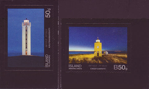 IC1282-831 Iceland Scott # 1282-83 MNH, Lighthouses 2012