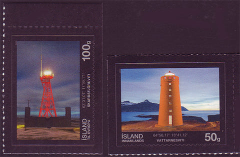 IC1316-171 Iceland Scott # 1316-17 MNH, Lighthouses 2013