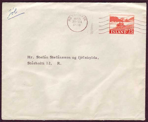 IC5015 Iceland  Local mail - Reykjavik 1955