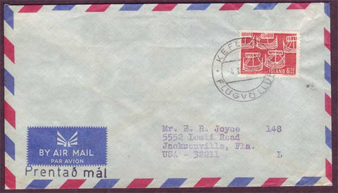 IC5044PH Iceland Airmail letter to USA ca.1969