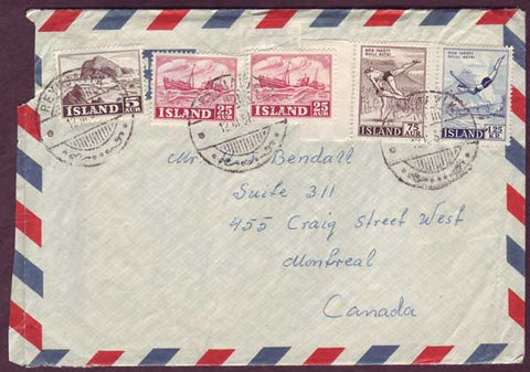 IC5049PH Iceland Airmail letter to Canada 1957