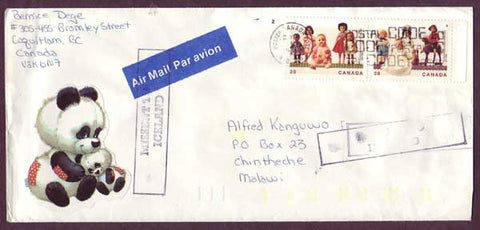 IC5050PH Iceland Canada to Malawi 1990 - Missent to Iceland!!
