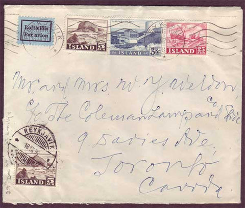 IC5055PH Iceland Letter to Canada 1956
