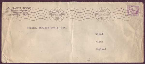 IC5057PH Iceland Commercial mail to England 1945
