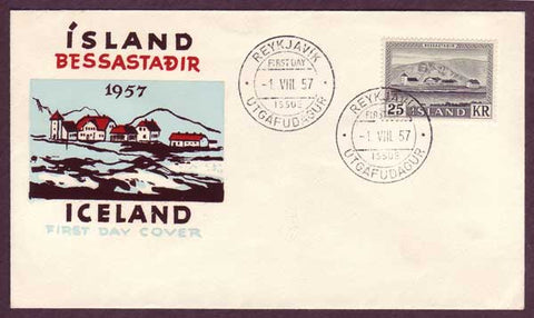 IC5067PH Iceland  First Day Cover - Bessastadir 1957