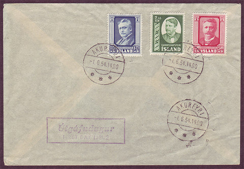 IC5071PH Iceland First Day Cover - Hannes Hafstein 1.6.1954