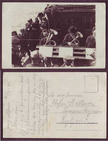 IC6022 Iceland Brass band - Real Photo card unused 1905