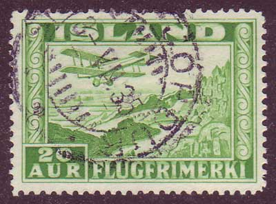 ICC16a5 Iceland Scott # C16a VF Used