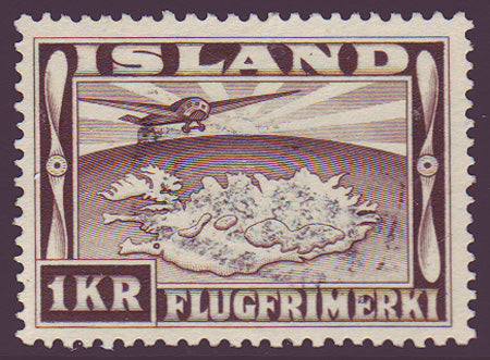 ICC195 Iceland Scott # C19 VF Used