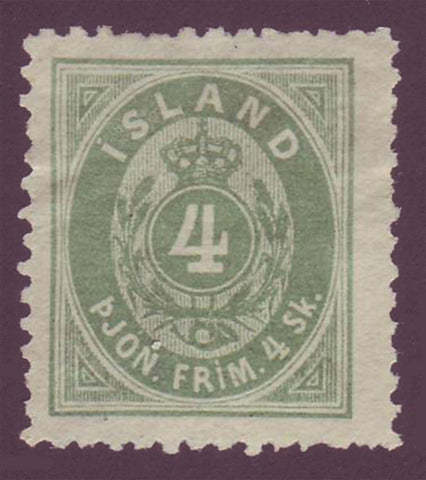 ICO03NG Iceland Scott # O3 Official.  VF, Mint no gum (*) 1873