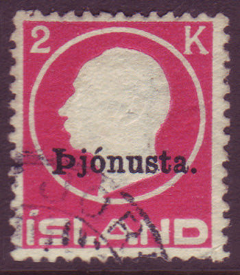 ICO50a5 Iceland Scott # O50a VF used