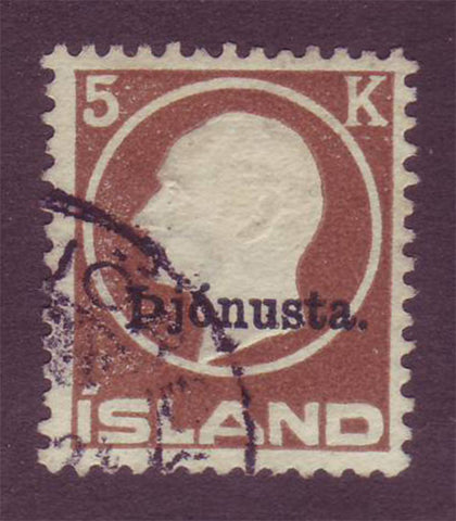 ICO515 Iceland Scott # O51 VF used