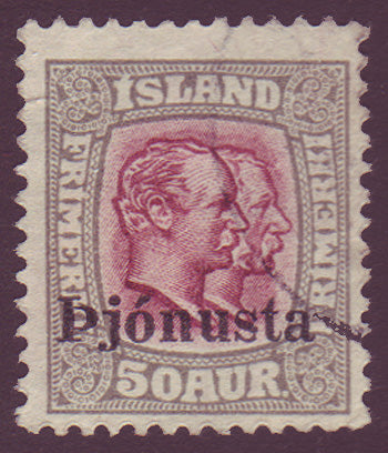 ICO695 Iceland Scott # O69 VF used